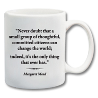 "11 oz. Ceramic Mug With Quote""Change The World"""