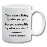 "11 oz. Ceramic Mug With Quote""Make A Life"""
