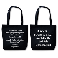 "Recyclable Eco Tote With Quote""Change The World"""