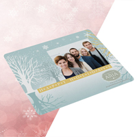 "Full-Color Ultra Opper Fiber Holiday Photo Cloth (7 1/2"" x 5"")"
