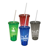 24 oz. BPA-Free Insulated Tumbler w/ Straw