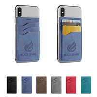 3 Pocket Faux Sueded Phone Wallet