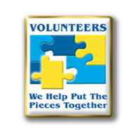 Volunteers Puzzle Pin