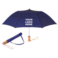 "46"" Vented Traveler Umbrella Folds to 18 inches"