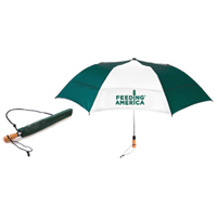 "58"" Vented Golf Umbrella Folds to 22 inches"
