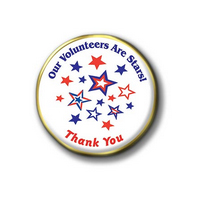 Volunteer Are Stars (Patriotic) Pins