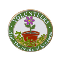 """Our Volunteers Plant Seeds of Kindness"" Pins"