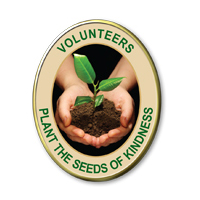 Volunteers Plant The Seeds Of Kindness Pins