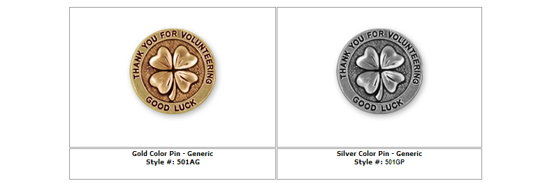 Four Leaf Clover Silver Pin Generic