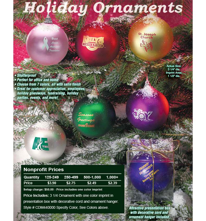 "3-1/4"" Satin Finish Ornaments"