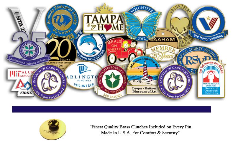 Volunteer & Nonprofit Pins - Volunteer Gifts
