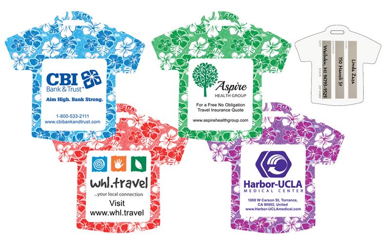 Hawaiian Tag: Stock Shape Hawaiian T-Shirt Luggage Bag Tag*
