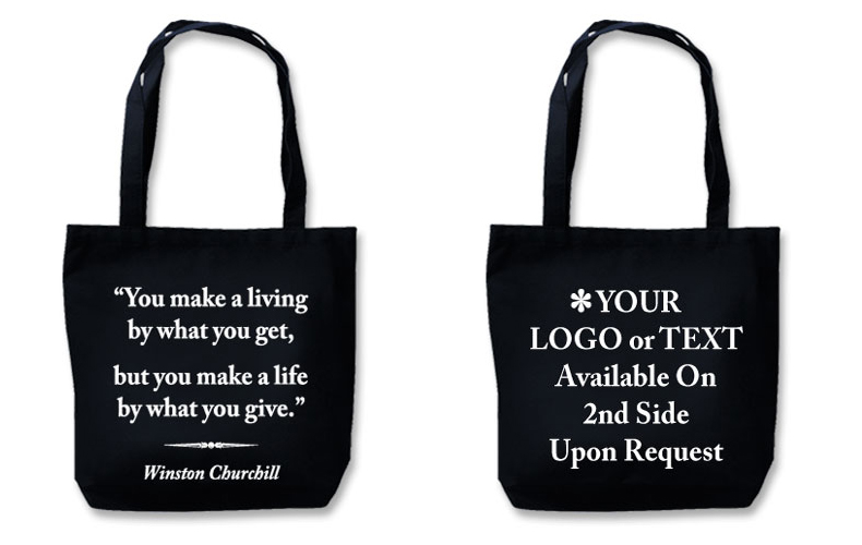"Eco Friendly Tote With Quote""Make A Life"""