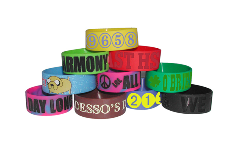 Big Wide Band Awareness Bracelet100% Silicone