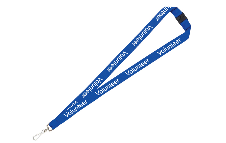 """Volunteer"" Print Lanyards FAST SHIPPING"