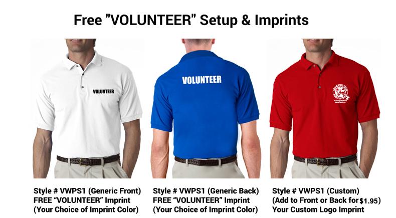 98e58fb2 Volunteer Polo Shirt - Volunteer Gifts