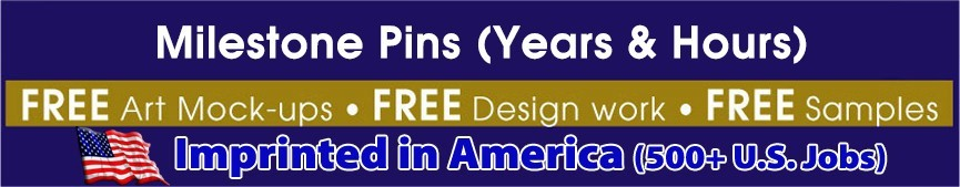 Milestone Pins (Years & Hours)